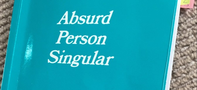 Booking is open for Absurd Person Singular