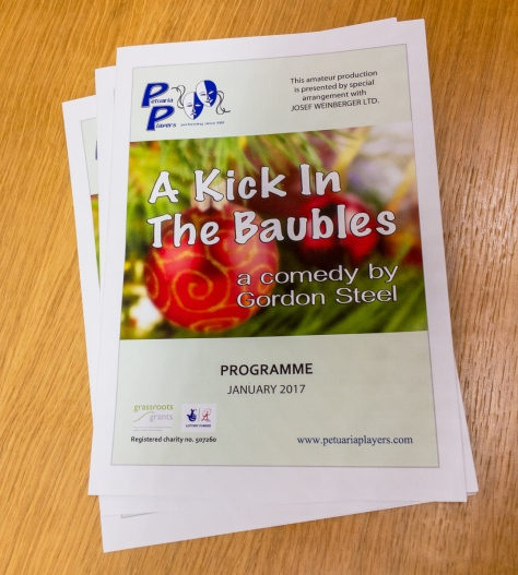 The Programmes are printed and ready